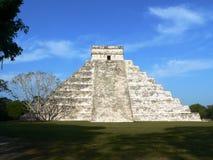 Pyramid of Chichen Itza Stock Photos