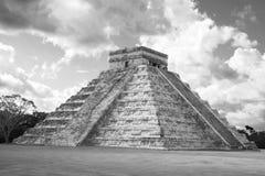 Pyramid of chichen itza. Ancient pyramid of chichen itza in Mexico Stock Photo