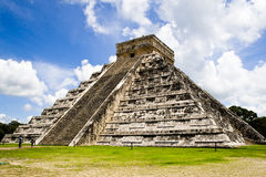 Pyramid of Chichen Itza, Mexico. The pyramid of Kukulcan, also known as El Castillo at the Mayan archaeological zone of Chichen Itza, Yucatan, Mexico Stock Image