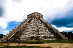 Pyramid of Chichen Itza, Mexico Stock Photo