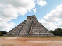 Pyramid of Chichen Itza, Mexico. The pyramid of Kukulcan, also known as El Castillo at the Mayan archaeological zone of Chichen Itza, Yucatan, Mexico Stock Photo