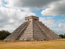 Pyramid of Chichen Itza, Mexico. The pyramid of Kukulcan, also known as El Castillo at the Mayan archaeological zone of Chichen Itza, Yucatan, Mexico Stock Photography