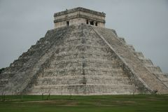 The pyramid at Chichen Itza, Mexico Royalty Free Stock Photos