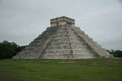 The pyramid at Chichen Itza, Mexico Stock Photos