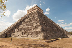 Pyramid in chichen itza Mexico. Royalty Free Stock Images