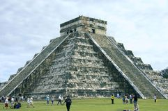Pyramid Chichen Itza side view royalty free stock images
