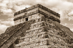 Pyramid in Chichen Itza, Temple of Kukulkan. Yucatan. Mexico Royalty Free Stock Photo