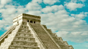 Pyramid in Chichen Itza, Temple of Kukulkan. Yucatan, Mexico stock footage