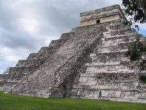 Pyramid - Chichen Itza - Yucatan/Mexico Arkivfoto