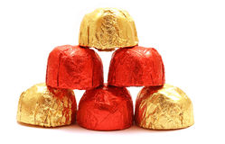 Pyramid of chocolate Royalty Free Stock Photography