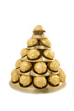 Pyramid of chocolate sweet Stock Images