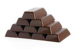 Pyramid of chocolate sweets Royalty Free Stock Image