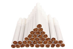 Pyramid of cigarettes Royalty Free Stock Photo