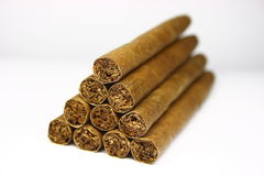 Pyramid from cigars Royalty Free Stock Photography