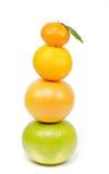 Pyramid from citrus mix Stock Photos