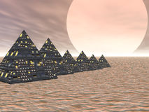 Pyramid City Stock Images