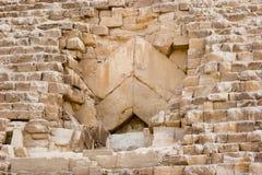 Pyramid closeup. In Giza, Egypt Stock Photography