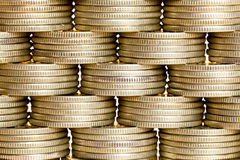 Pyramid of the coins Royalty Free Stock Photos