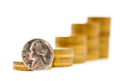 Pyramid of coins Royalty Free Stock Photography
