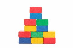Pyramid of color blocks Royalty Free Stock Images