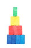 Pyramid of color blocks Stock Photography