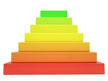 Pyramid of colored cubes Stock Photography