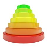 Pyramid of colored discs Royalty Free Stock Photography