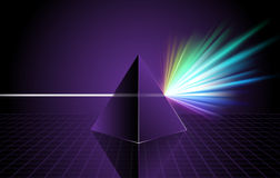 Pyramid on Colorful Spectrum Background Royalty Free Stock Images