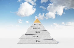 Pyramid. Composed of business words, 3d render Stock Photography