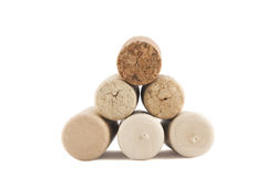 Pyramid of corks Stock Photos