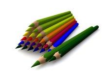 Pyramid of crayons Royalty Free Stock Photo