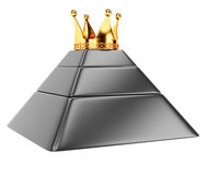 Pyramid with crown Royalty Free Stock Image