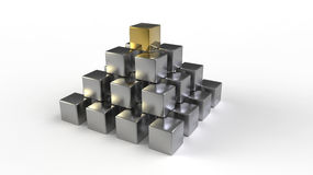 Pyramid of cubes Stock Photography