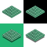 Pyramid of the cubes with dollar logo in isometric view. Money pyramid Royalty Free Stock Images