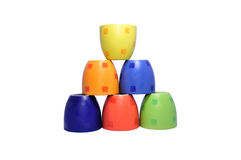 Pyramid of cups Stock Photo