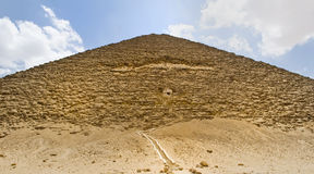 Pyramid of Dahshur. Great Pyramid in the village of Dahshur Stock Photos
