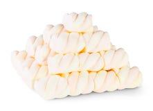 Pyramid den spiral marshmallowen Royaltyfria Bilder
