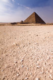 Pyramid in the desert Royalty Free Stock Image
