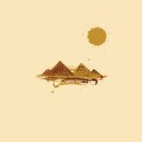 Pyramid in desert Stock Photo