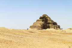 Pyramid in the desert Stock Photography