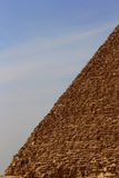 Pyramid in desert of Egypt in Giza Stock Photos