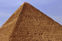 Pyramid in desert of Egypt in Giza Royalty Free Stock Photos