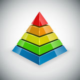 Pyramid design element. Pyramid with color segments design element Stock Photography