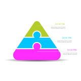 Pyramid diagram template. 3 part pyramid diagram template vector illustration Royalty Free Stock Image
