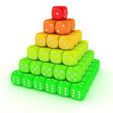 Pyramid from dice Royalty Free Stock Image