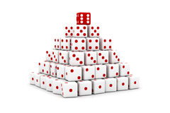 Pyramid of dice Stock Photos
