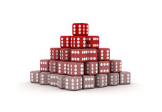 Pyramid Of Dice Royalty Free Stock Photography