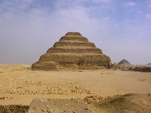 Pyramid of Djoser at Saqqara. Step pyramid of Djoser at Saqqara, in Egypt, one of the oldest pyramids in the world Stock Images