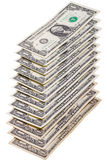 Pyramid of dollar bills Stock Photography