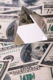 Pyramid on dollars. Royalty Free Stock Photos